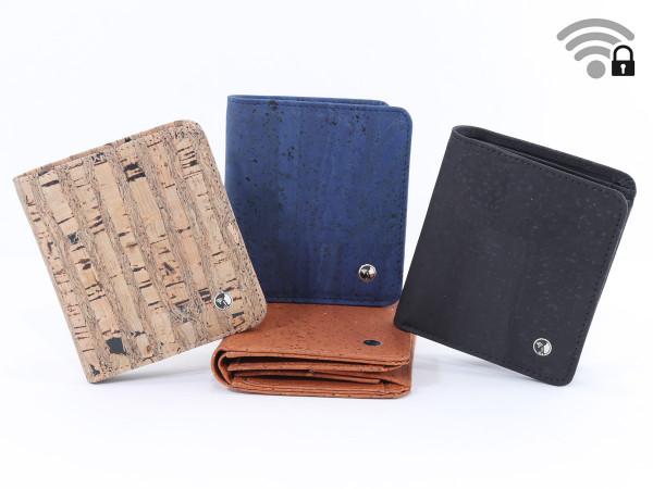 Funkstille Wallet - Portemonnaie mit RFID-Schutz - Kork
